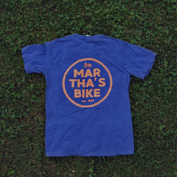 martha's bike mechanic t-shirt navy