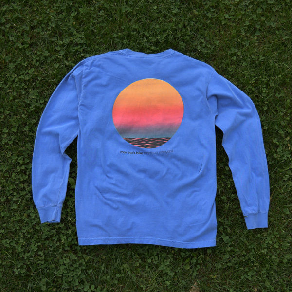 menemsha sunset blue long-sleeve shirt