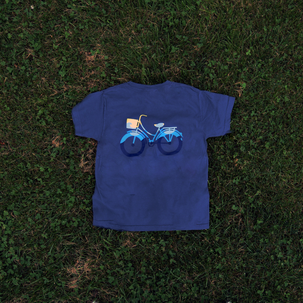 youth bike t-shirt navy