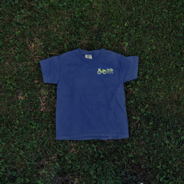 martha's bike youth t-shirt navy