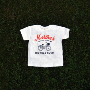 martha's bicycle club tee (youth) in white