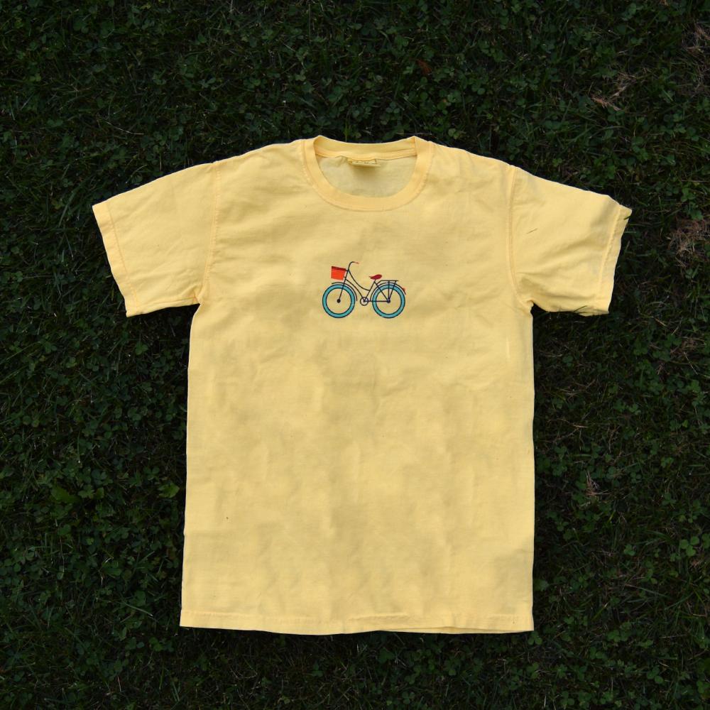 martha's bike yellow logo t-shirt